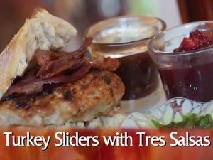 Turkey Sliders With Tres Salsa