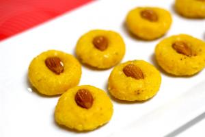 Coconut Malai Kesar Peda Video Recipe 1018335 By Bhavnaskitchen