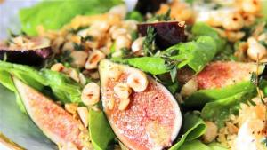 Goat Cheese And Fig Salad Recipe 1005828 By Videojug