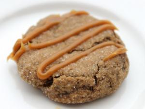 Caramel Ginger Molasses Cookies