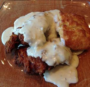 Country Style Chicken With Milk Gravy