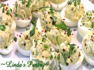 Jalapeno Cream Cheese Deviled Eggs