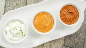 3 Chutney Recipes Easy Dips And Sauces Schezwan Sauce Sesame Chutney And Eggless Milk Mayonnaise 1018939 By Cookingshooking