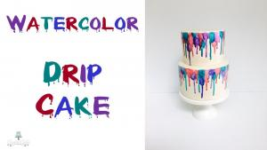 Fun Watercolor Drip Cake 1015945 By Creativecakesbysharon