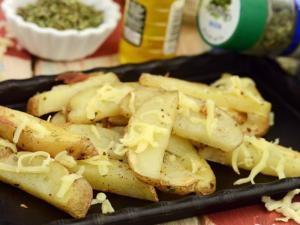 Potato Wedges By Tarla Dalal