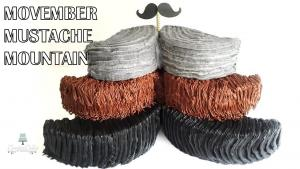 Movember Mustache Mountain Cake