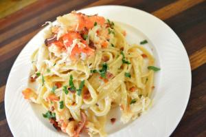 Camerens Crab And Bacon Fettuccine Alfredo 1017358 By Cookingwithcarolyn