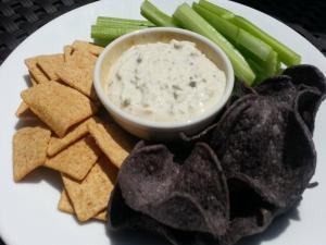 Roasted Garlic Scape Dip