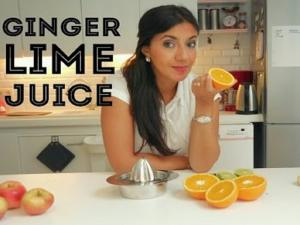Healthy And Delicious Ginger Lime Juice