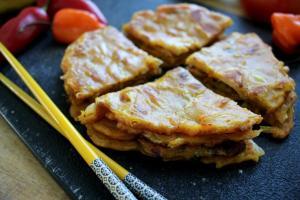 Kimchi Curry Pancake