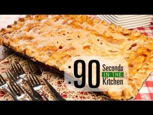 90 Second Strawberry Rhubarb Slab Pie 1018417 By Thefoodchannel
