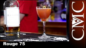 The Rouge 75 Nye Cocktail With Freixenet Cordon Negro