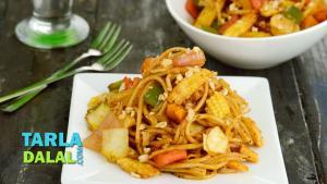 Spicy Stir Fry Noodles In Schezwan Sauce 1018314 By Tarladalal