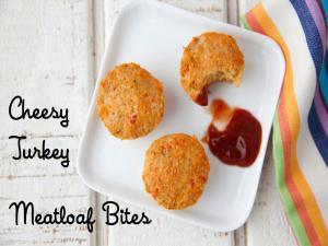 Cheesy Turkey Meatloaf Bites 2