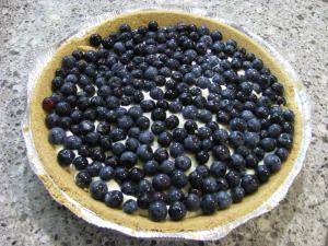 Microwaved Blueberry Pie