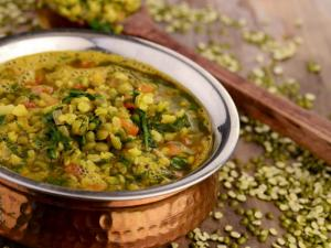 Moong Dal With Spinach Iron Rich Recipe By Tarla Dalal