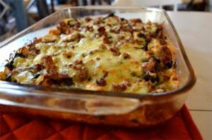 Mixed Cheese Breakfast Casserole