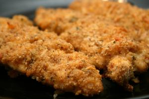 Oven Fried Chicken Breasts