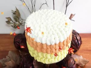 Candy Corn Fall Inspired Cake