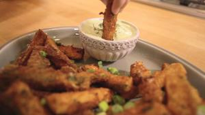 Zucchini Fries With Green Goddess Aioli 1015989 By Grateandfull