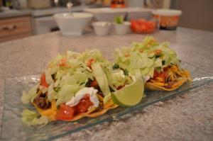 How To Cook Ground Beef Refried Bean Tostadas 1016170 By Cookingwithkimberly