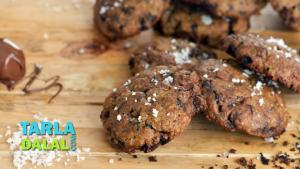 Nutella Chocolate Chip And Sea Salt Cookies Christmas Special Recipe 1019554 By Tarladalal