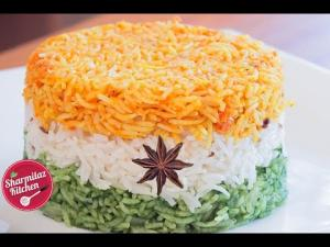 Tiranga Pulav Vegetarian Tricolor Rice Independence Day Diy Recipe 1017723 By Sharmilazkitchen