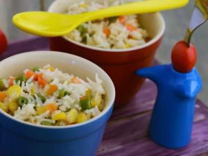 Vegetable Rice With Cheese Sauce By Tarla Dalal