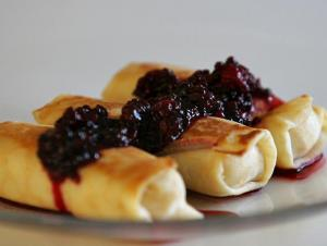 Cottage Cheese Fruit Blintzes