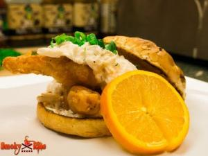 Shock Top Beer Battered Fish And Crab Sandwich 1015017 By Smokyribs
