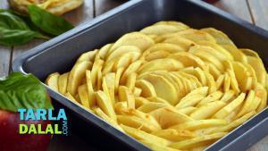 Eggless Apple Cake 1019229 By Tarladalal