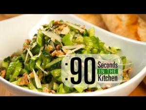 90 Second Parmesan Celery Salad 1018414 By Thefoodchannel