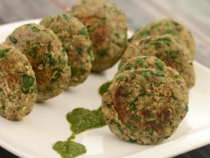 Lehsuni Matki Palak Tikki Low Cholesterol And Healthy Heart Snack By Tarla Dalal