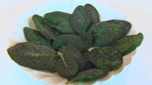 Fry Sage Leaves