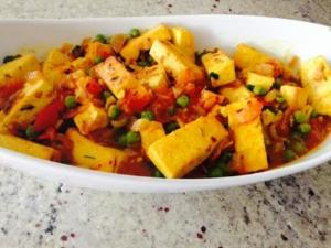 New Delhi Tofu Peas Curry