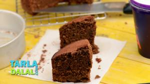 Eggless Chocolate Cake Pressure Cooker