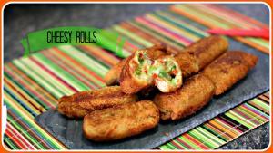 Cheesy Rolls Quick Evening Snack Recipe 1016206 By Sruthiskitchen