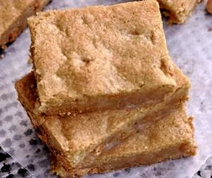 Low Fat Butterscotch Brownies