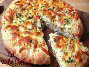 Cheesy Garlic Bread Pizza Base