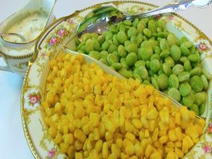 Bettys Lima Beans And Corn Succotash With Cream Cheese Sauce