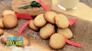 Crispy Coconut Cookies Recipe In Hindi 1019588 By Tarladalal