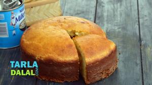 Eggless Vanilla Sponge Cake Pressure Cooker 1019068 By Tarladalal