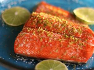 Maple Lime Baked Salmon