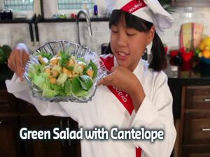 Green Salad W Cantelope