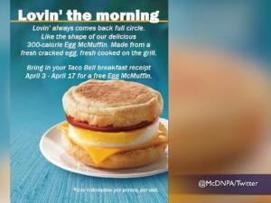 Taco Bell Receipt Will Get You Free Breakfast At Mcdonalds