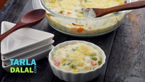 Baked Vegetable Au Gratin 1018315 By Tarladalal