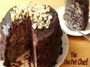 No Bake Chocolate Nutella Crepe Cake