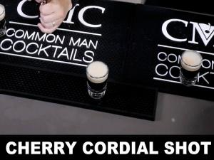 Cherry Cordial Shooter With Cherry Heering Liqueur