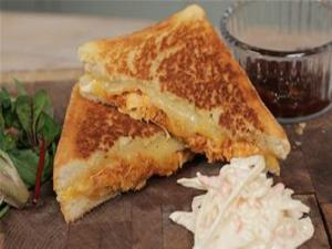 Pulled Chicken Grilled Cheese Sandwich