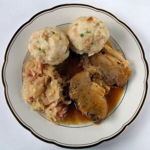 Sauerkraut And Pork With Dumplings